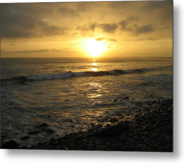 Storm At Sea Metal Print