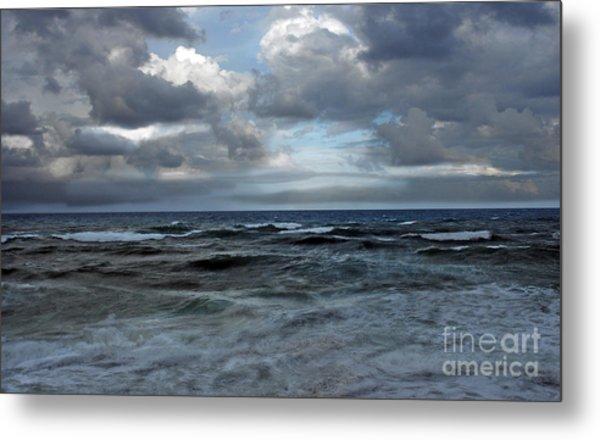 Storm Off Coral Cove Beach Metal Print by Richard Nickson