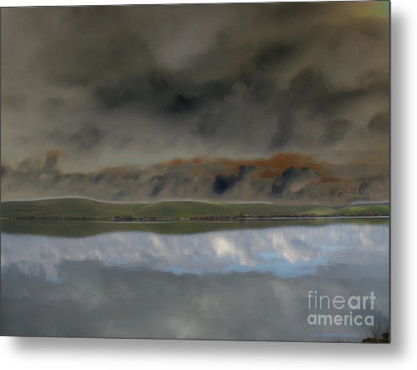 Storm On Land Metal Print