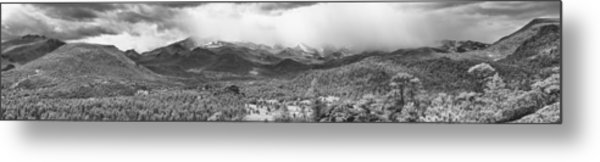 Storm On The Rockies Metal Print