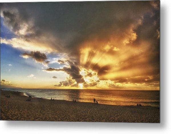 Storm Over Sunset Beach Hawaii Metal Print by Verity Milligan