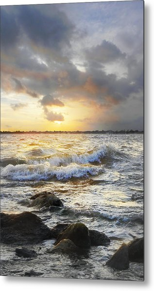 Storm Waves Metal Print