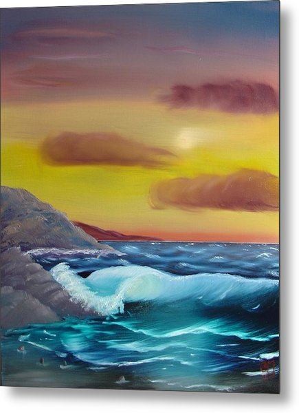 Stormy Beach Metal Print