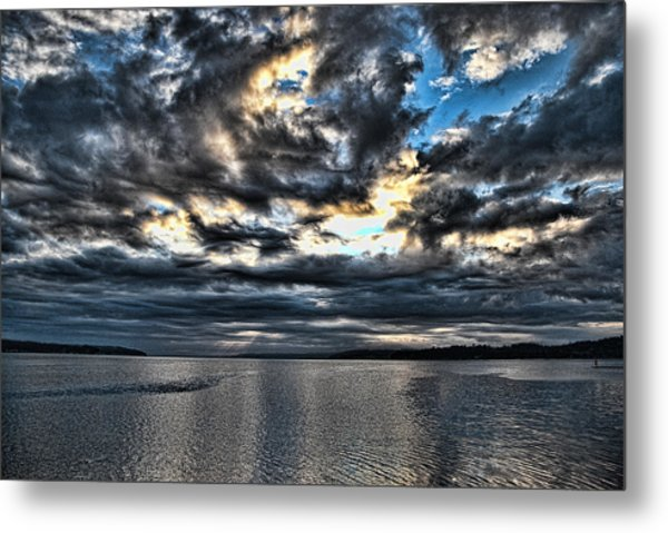 Stormy Morning Metal Print