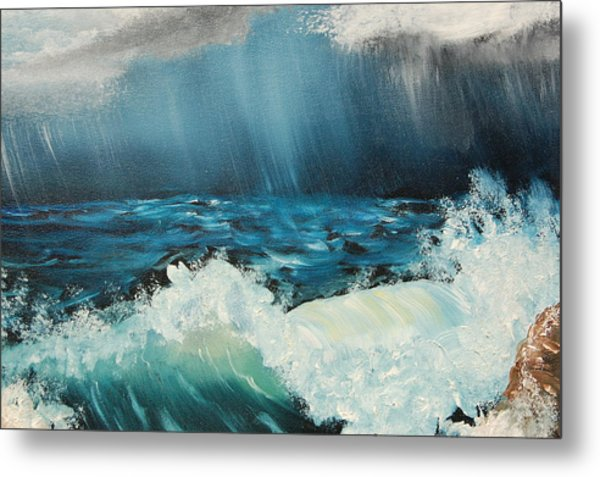 Stormy Night Metal Print by Katheryn Napier