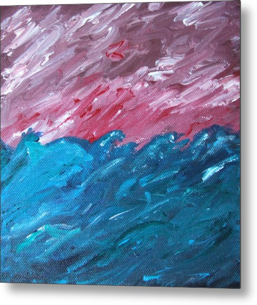 Stormy Sea Metal Print