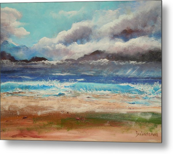 Stormy Shore Metal Print