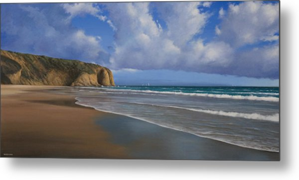Strands Beach Dana Point Painting Metal Print