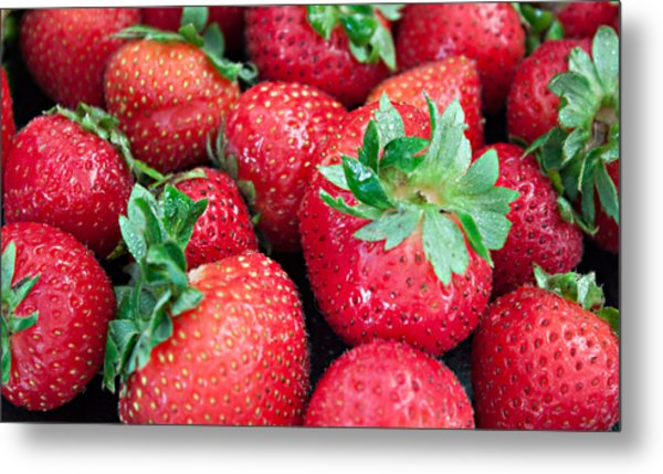 Strawberry Delight Metal Print