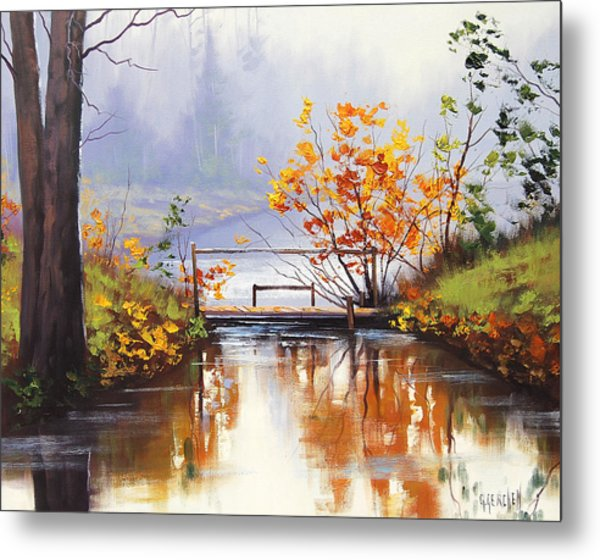 Stream Crossing Metal Print