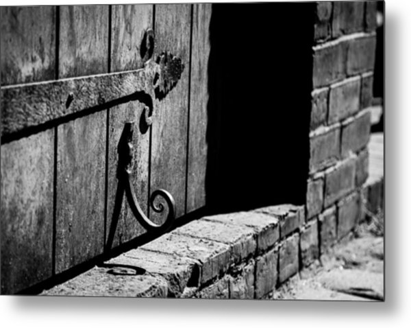 Detail Of Old Door Metal Print