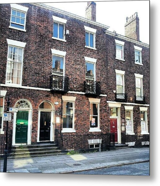 #street #houses #liverpool #buildings Metal Print