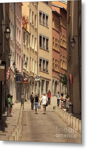 street in Lyon  Metal Print