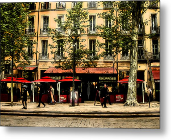 Street Scene Metal Print by Jim Painter