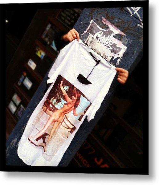 Street Style Shopping. #t-shirt #street Metal Print