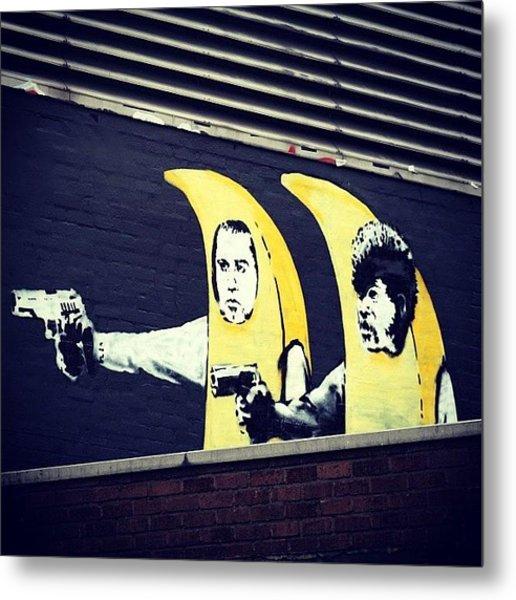 #streetart #smile #stencil #banksy Metal Print