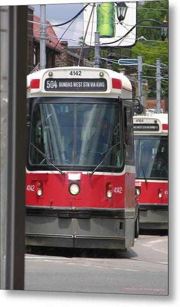 Streetcars 21379 Metal Print