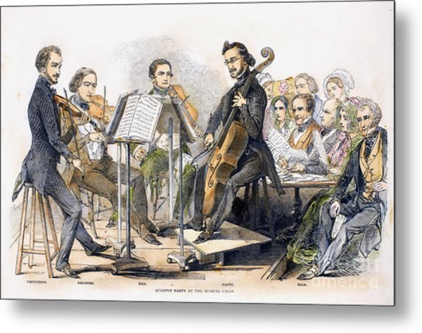 String Quartet, 1846 Metal Print