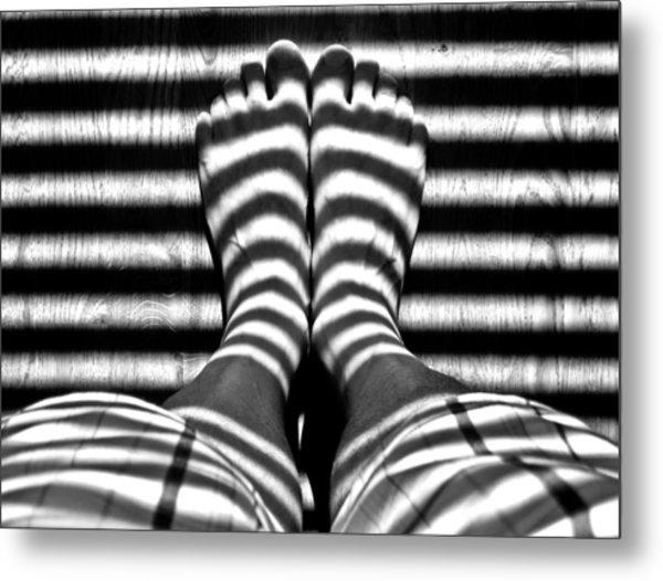 Stripe Socks? Metal Print