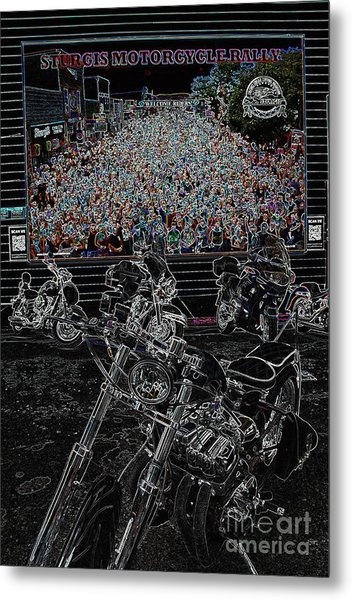 Stugis Motorcycle Rally Metal Print