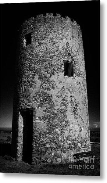 Stump Remains Of Portaferry Windmill On Windmill Hill Portaferry Ards Peninsula County Down  Metal Print by Joe Fox