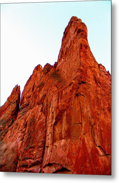Stunning Red Rock From Garden Of The Gods Colorado Metal Print