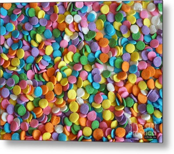 Sugar Confetti Metal Print