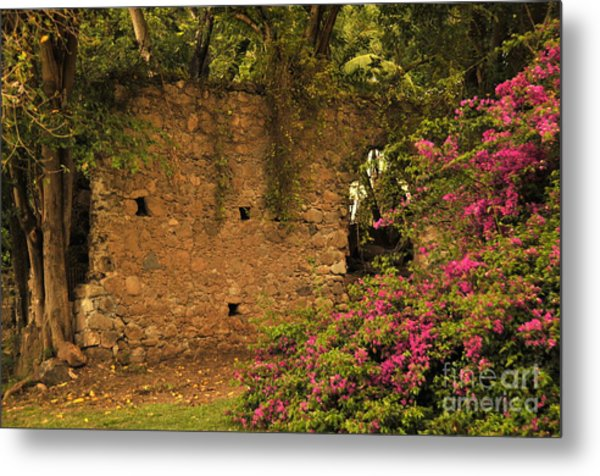 Sugar Mill Of The Past In St. Lucia Metal Print