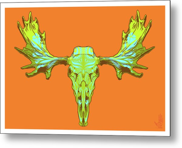 Sugar Moose Metal Print