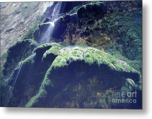 Sumidero Canyon Waterfall Chiapas Mexico Metal Print
