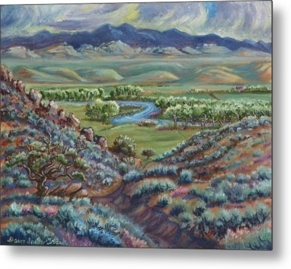 Summer Evening In The River Valley Metal Print