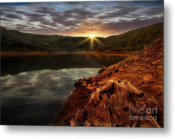 Sun Set Water Metal Print by Nigel Hatton