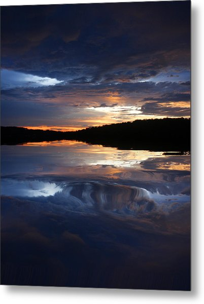 Sundown At Lake Metal Print