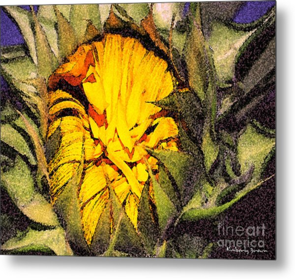 Sunflower Slumber Metal Print