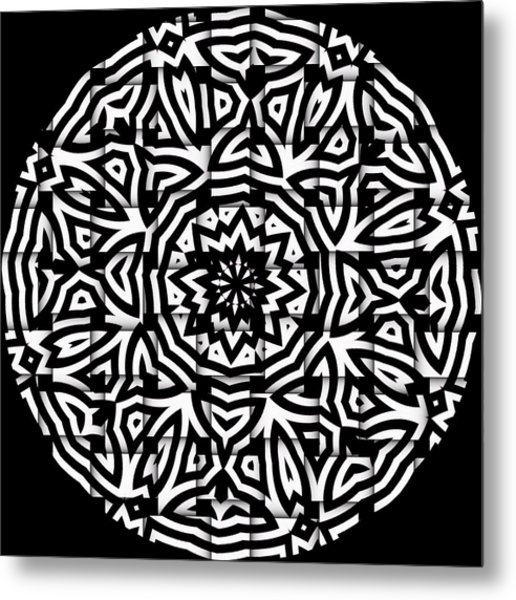 Metal Print featuring the digital art Sunflower by Visual Artist Frank Bonilla