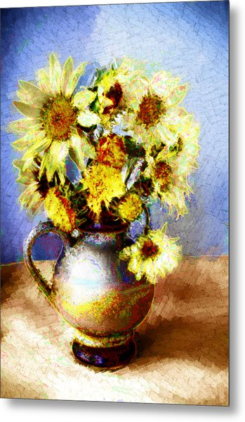 Sunflowers Metal Print by Heiko Mahr
