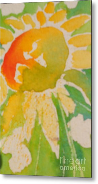 Sunflowers In My Cottage Garden At Silver Vista Metal Print