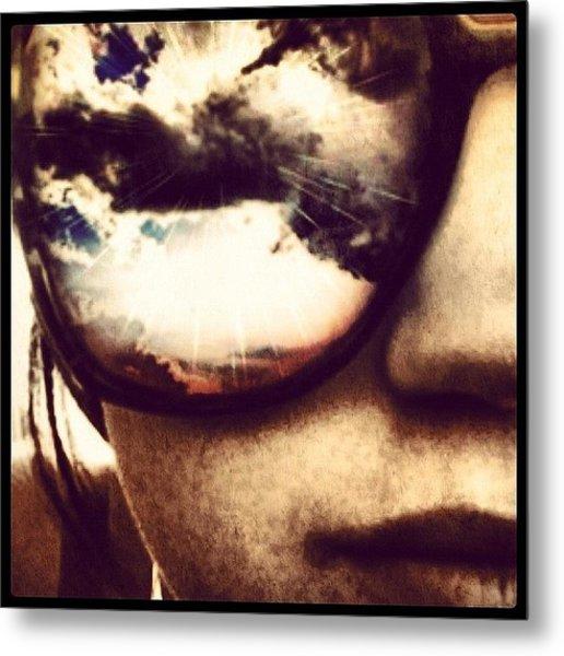 #sunglasses #me #myself #effects #edits Metal Print