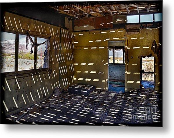 Sunlight Through Roof Slats Metal Print