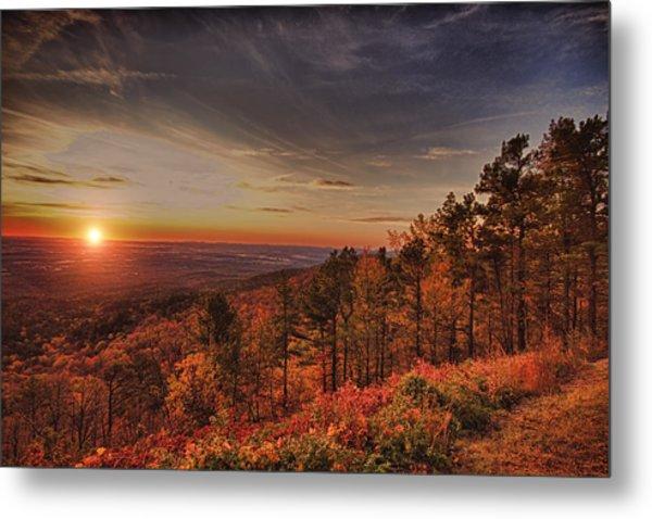 Sunrise 2-talimena Scenic Drive Arkansas Metal Print