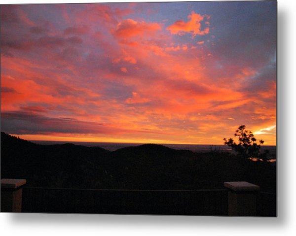 Sunrise Above Boulder-photo Metal Print