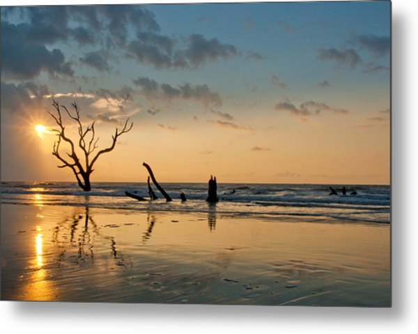 Metal Print featuring the photograph Sunrise At Bone Yard Beach by Francis Trudeau