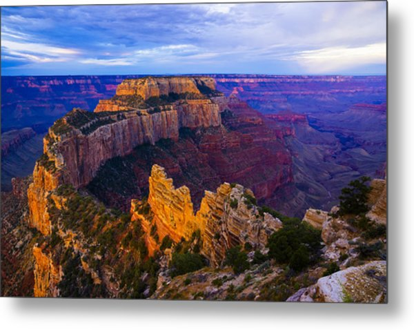 Sunrise At Cape Royal Grand Canyon Metal Print by John Reckleff