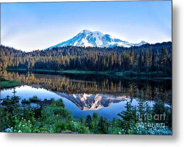 Sunrise At Reflection Lake Metal Print