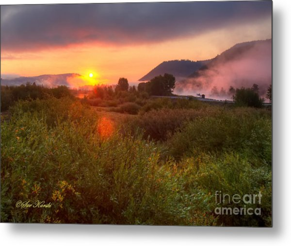 Sunrise At Snake River Metal Print