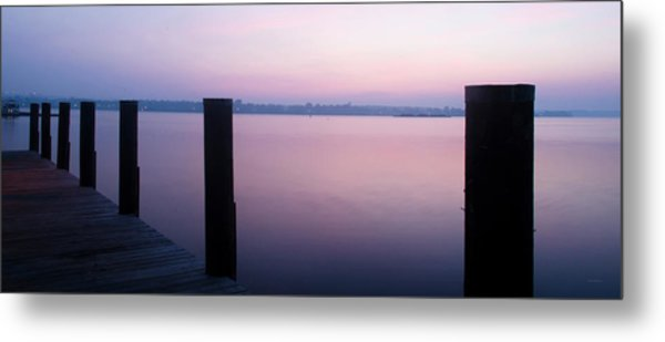 Sunrise Dock Metal Print