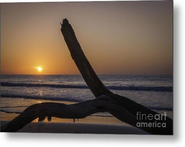 Sunrise Hunting Island Metal Print