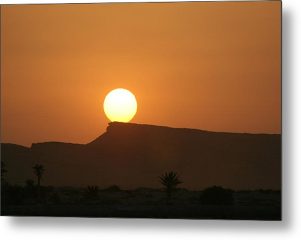 Sunrise In Tunisia Metal Print by Simona  Mereu