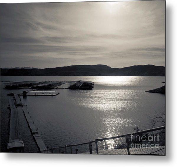 Sunrise Lake Pleasant Metal Print by Arne Hansen
