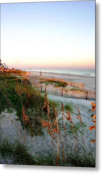Sunrise On Sea Oats -2 Metal Print by Alan Hausenflock